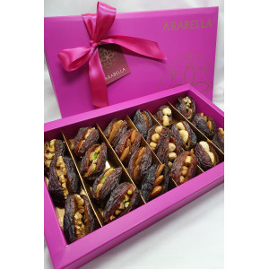 Medjool Large Dates Stuffed with Nuts - 21  Pieces