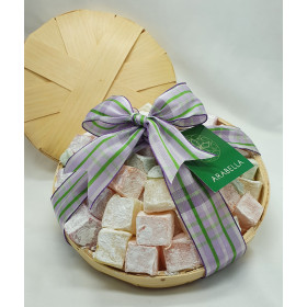 Assorted  Turkish Delights Straw Basket - 600-625 g
